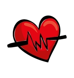 Medical cardiology heartbeat vector image vector image