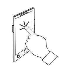 Modern cellphone icon image vector