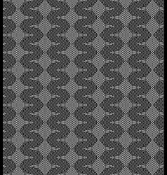 monochrome psychodelic seamless pattern vector image