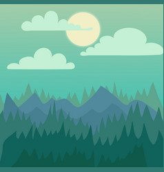 Mountain nature landscape vector