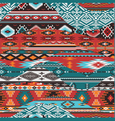 Native american waves patchwork vector