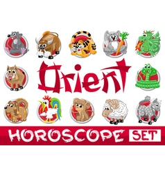 Orient horoscope set vector image