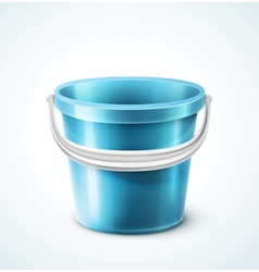 Plastic bucket vector