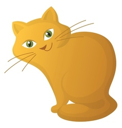 red cartoon cat vector image