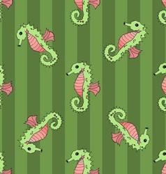 Seahorse seamless vector image