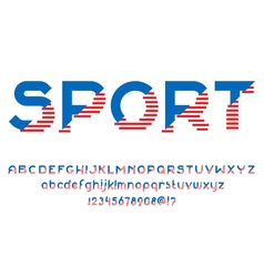 Sport american font vector image