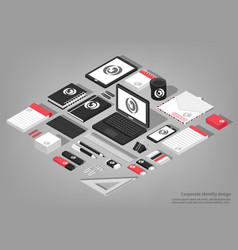 stationary isometric set vector image vector image