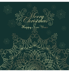 Vintage Christmas background for invitation vector image vector image