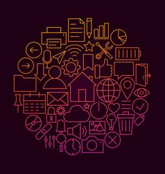 web ui line icon concept vector image