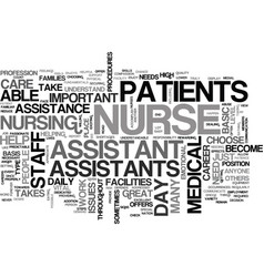 Why choose to become a nurse assistant text word vector