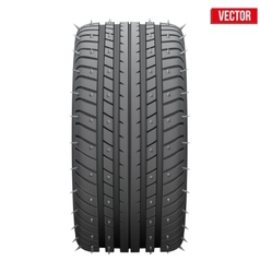 Winter tires with metal spikes vector