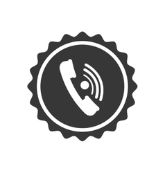 Phone seal stamp communication icon vector