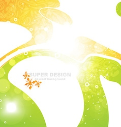 Bright summer background vector