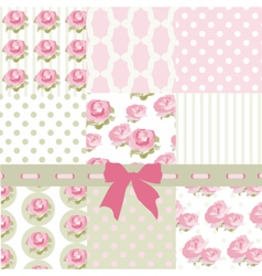 Shabby chic set of ornaments vector