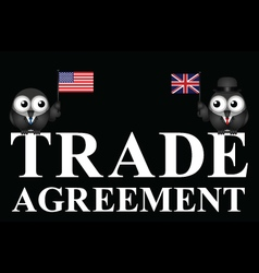 USA UK transatlantic trade agreement negotiations vector image