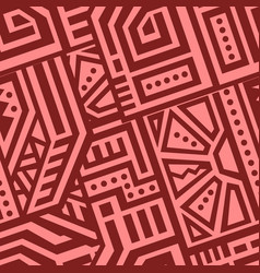 Abstract seamless pattern in ethnic style vector