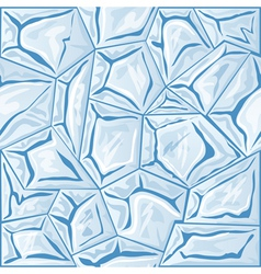 Blue ice seamless pattern vector
