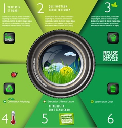 Nature in focus green infographic vector image
