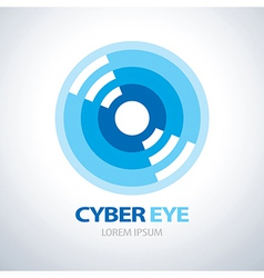 Cyber eye icon vector