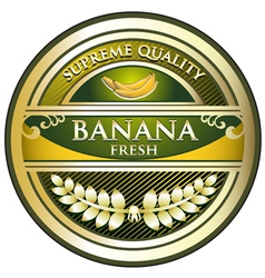 Banana gold vintage label vector