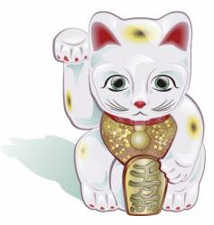 lucky cat vector image