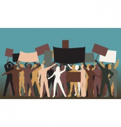 Protest group vector