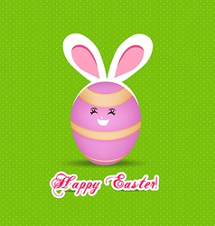 Happy easter eggs with rabbit ears vector