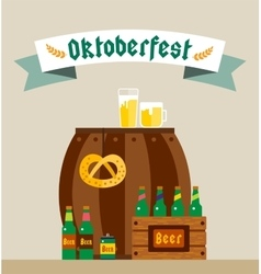 Oktoberfest celebration background poster vector
