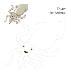 Draw the squid educational game vector