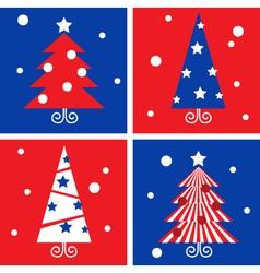 winter christmas trees vector image