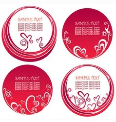 Valentine day stickers vector