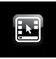 Desktop icon vector