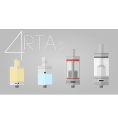4 rtas colored set vector