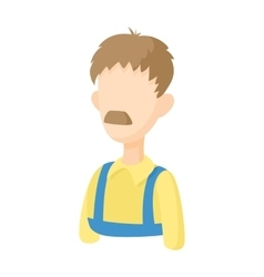 Warehouse worker icon cartoon style vector image