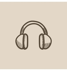 Headphone sketch icon vector