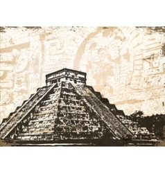 antique mayan pyramid vector image vector image