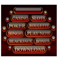casinobuttons vector image vector image