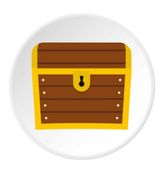 Chest icon circle vector
