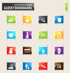 Cleaning company icons vector