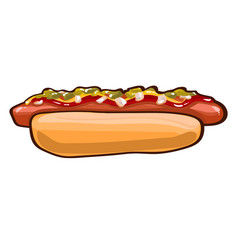 Colorful hot dog template vector