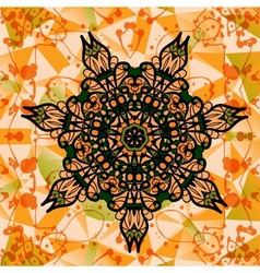 Colorful mandala over multicolored background of vector image vector image