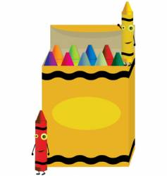 crayon box vector image
