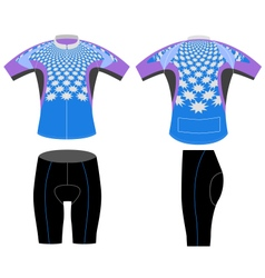 Cycling vest stars shaped vector