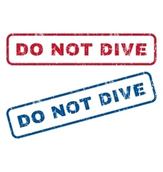 Do not dive rubber stamps vector