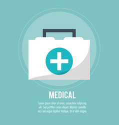 first aid box medical health care vector image