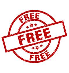 Free round red grunge stamp vector