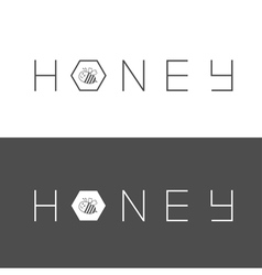 Honeycomb banner set Bee insect animal Beehive vector image vector image