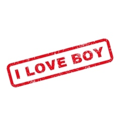 I Love Boy Text Rubber Stamp vector image vector image