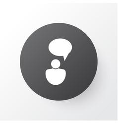 idea discussion icon symbol premium quality vector image