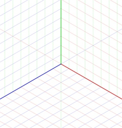Isometric projection background vector image vector image